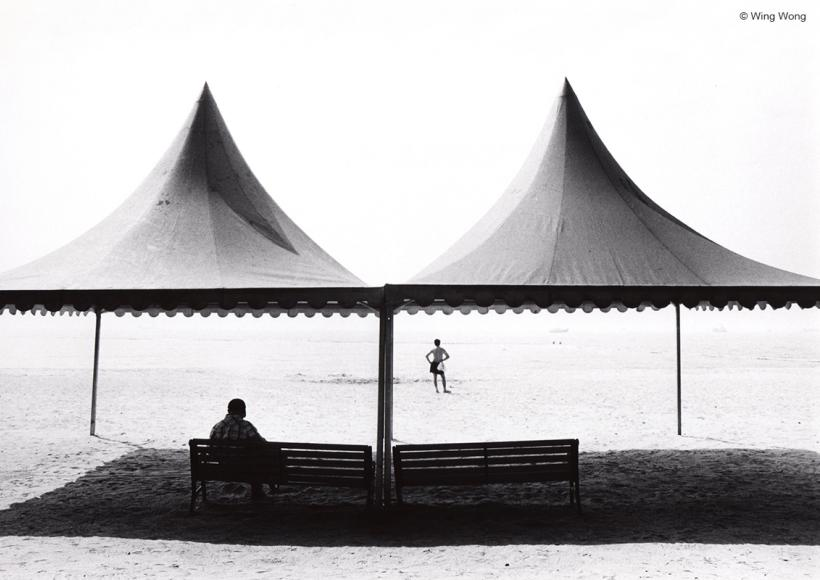 """By the Sea #65"" by Wing Wong, silver gelatin print, 2012"