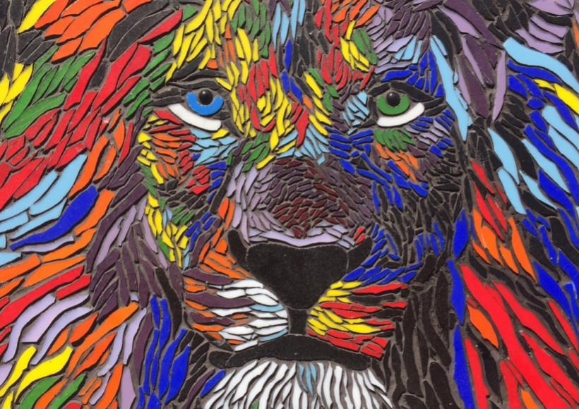 """Lion mosaic"" by Lucero Espino from Skyline High School"