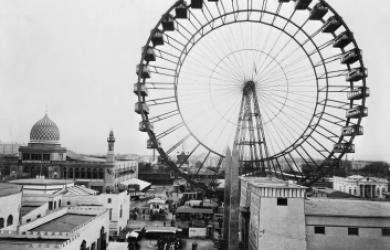 View of Ferris Wheel, Chicago, 1893