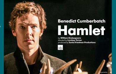 Benedict Comberbatch with candles