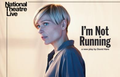 NT Live poster featuring woman staring off and looking apprehensive