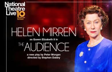 NT Live poster featuring Helen Mirren