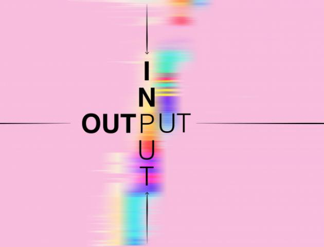 Input/Output Exhibition Postcard