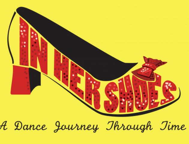 Show title in red high heel shoe