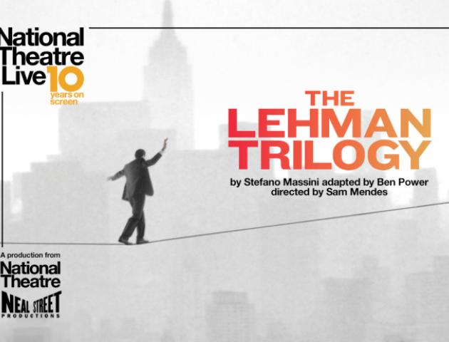 NT Live poster featuring man on a high wire