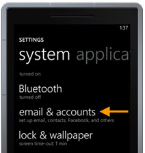 Windows Phone Email & Accounts