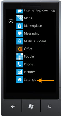 Windows Phone Setting Icon