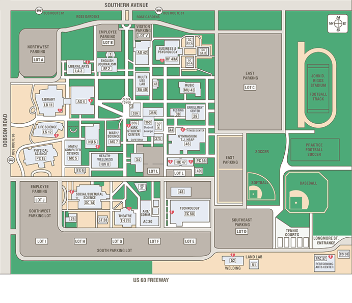 Southern & Dobson Campus Map