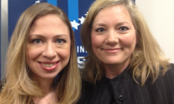 Chelsea Clinton with Alumna Kathleen Stefanik