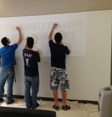 Students Signing the Wall