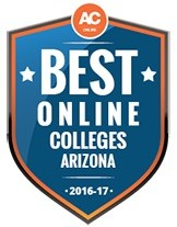 Best Online Colleges Arizona 2016-17 badge