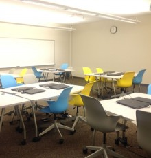 The new furniture and laptops in the English Foundations Center