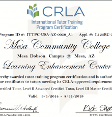 The LEC's CRLA certificate