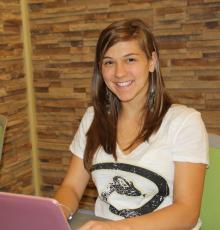 Computer Science student Lesley Oliver