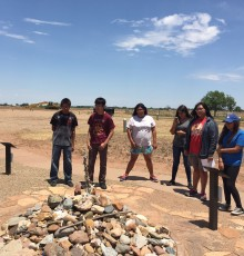 HOOP students observing memorial site in New Mexico.