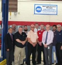 Automotive Instructors in Service Bay