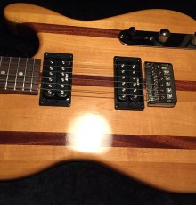 Second view of wood inlay guitar