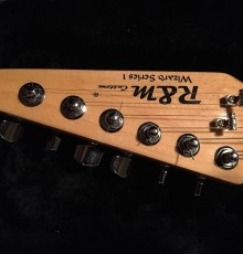 Close up of guitar headstock