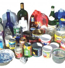 Plastic bottles, cans, cups, glass bottles, other 1-7 plastics