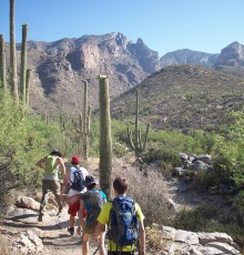 Hikers at Mt. Kimball in Tucson