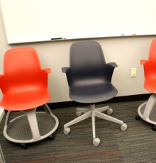 New chairs in Experimental Classroom