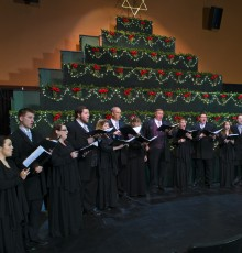 Choral Director Glenn Bennett directs the choir.