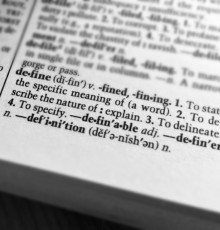 "Dictionary definition of ""define"""