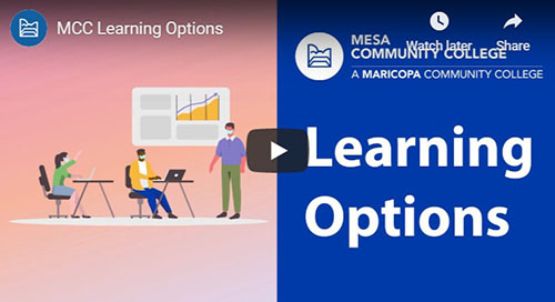 YouTube Video - MCC Learning Options