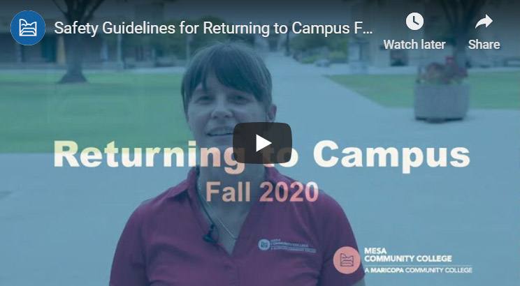 Safety Guidelines video for Returning to Campus