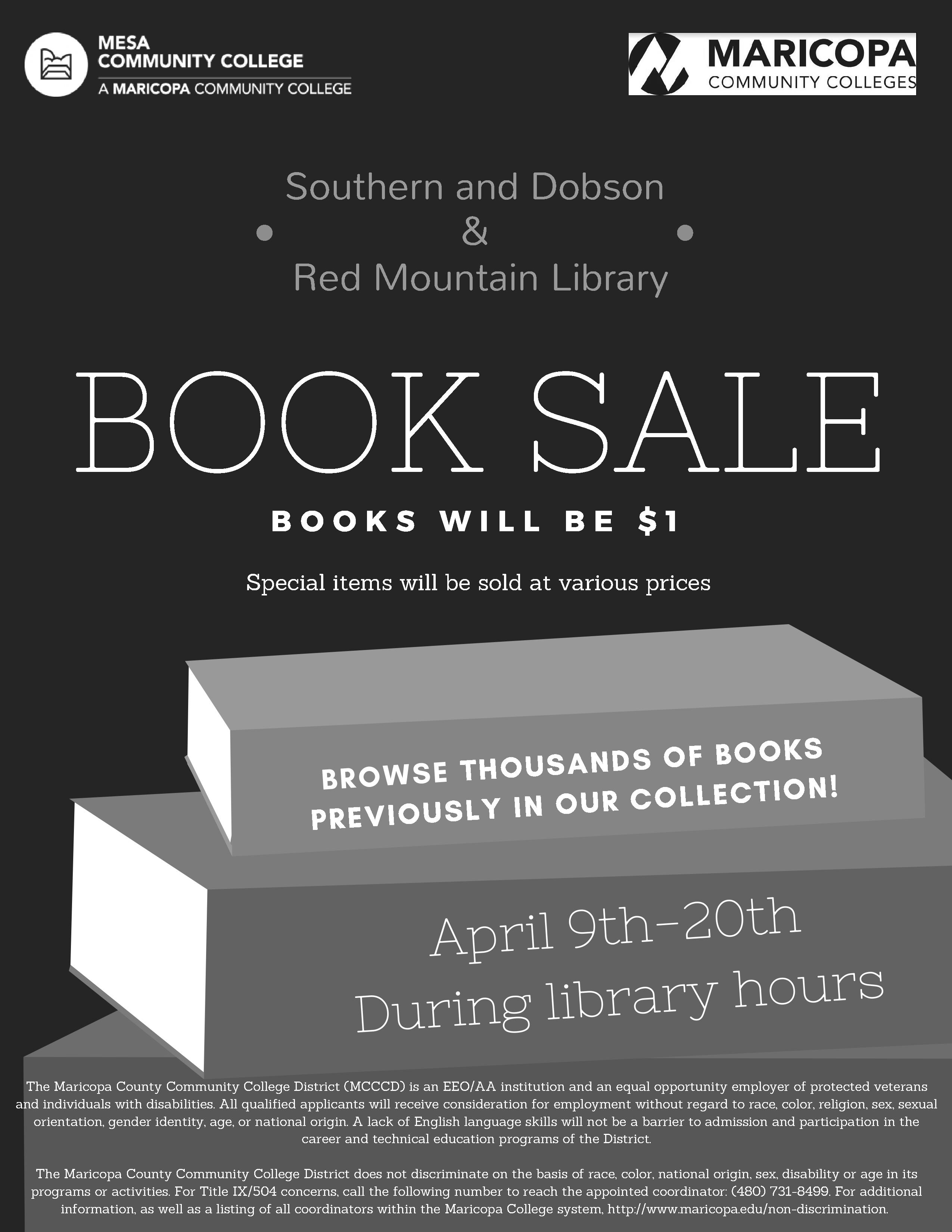 College Books For Sale >> Book Sale Events News Mesa Community College