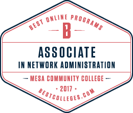 Bestcolleges.com Associate in Network Administration badge