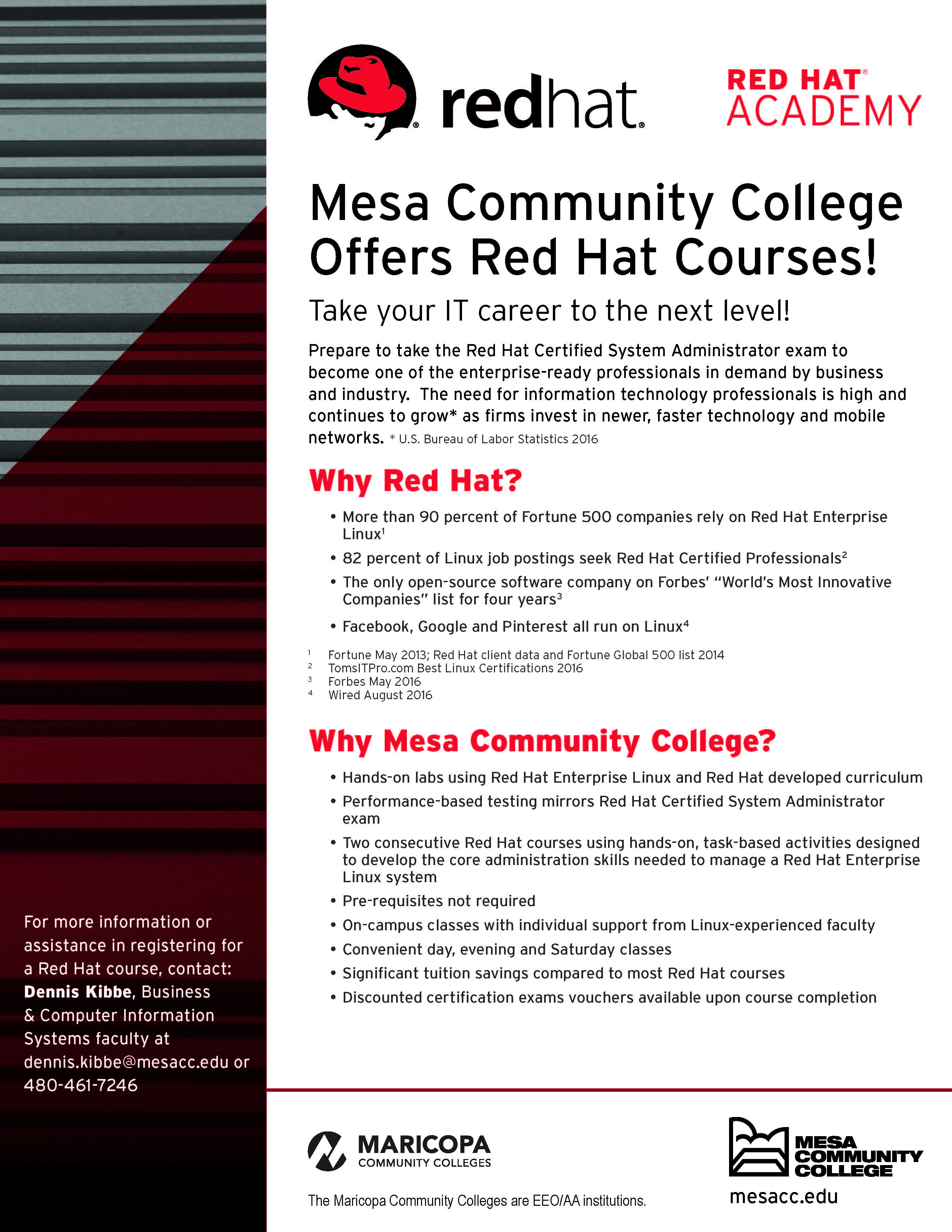 Mesa Community College Offers Red Hat Academy Press Release