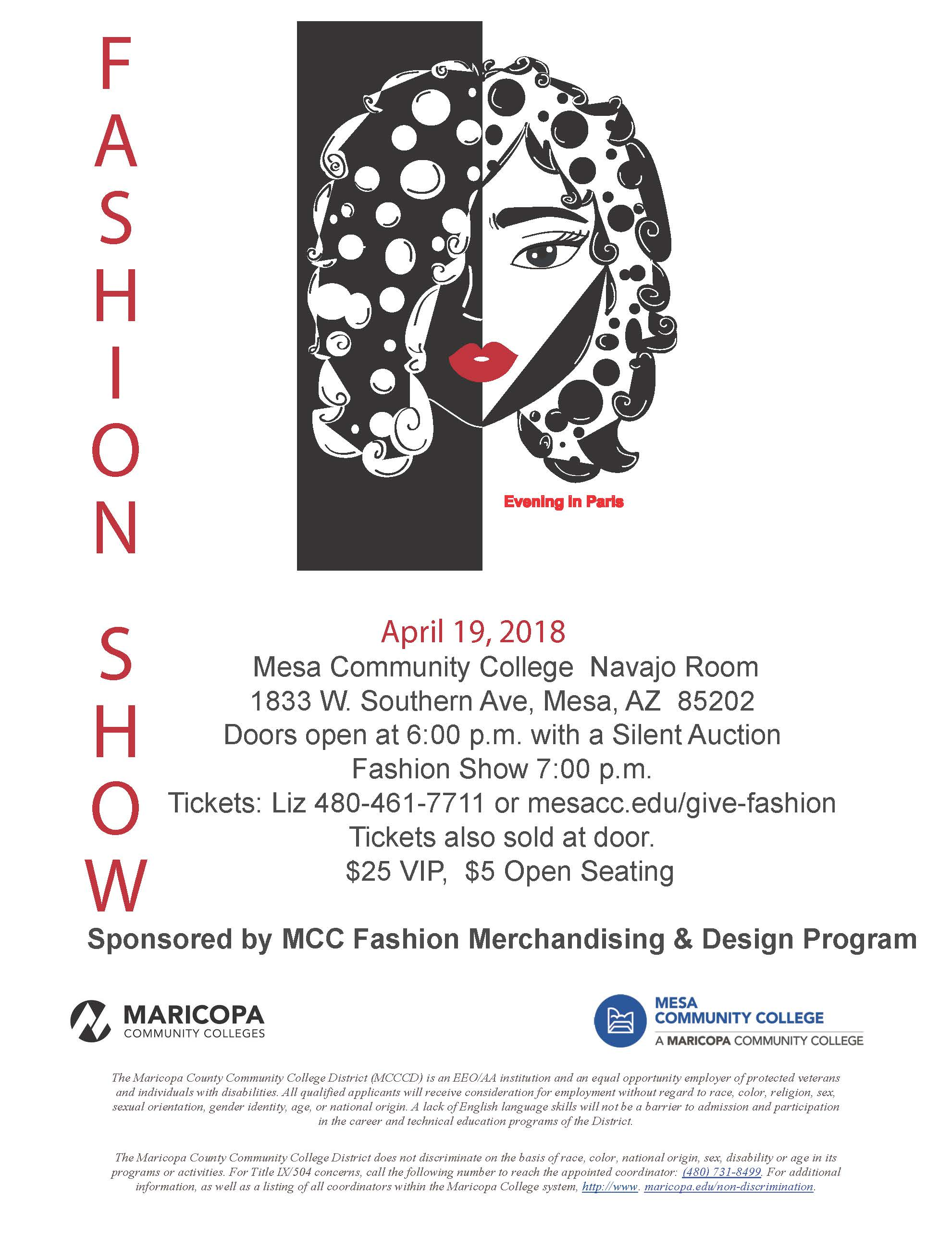 Lack Of College Disability Information >> Mcc Hosts 13th Annual Fashion Show Evening In Paris