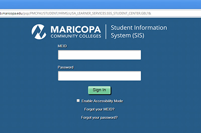 Example: Login with your MEID and Password