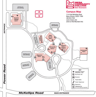 Red Mountain Campus Interactive Campus Map
