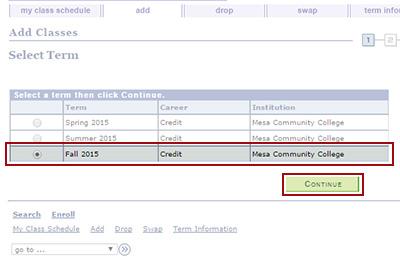 Register for Classes | Academic Advisement | Mesa ...