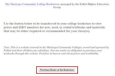 Example: Click on 'Purchase Books at the Bookstore'