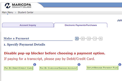 Example: Set up electronic payments