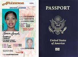 Example forms of government-issued photo IDs