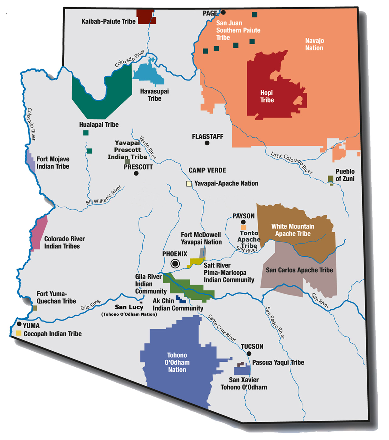 Map Of Arizona Indian Tribes.Students Start Here American Indian Institute Mesa Community College