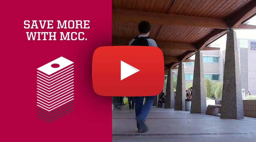 YouTube video describing why you should attend MCC and build your future, not your debt.