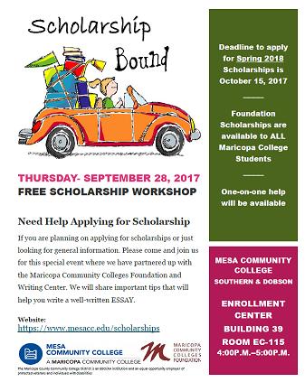 Scholarship Bound flyer