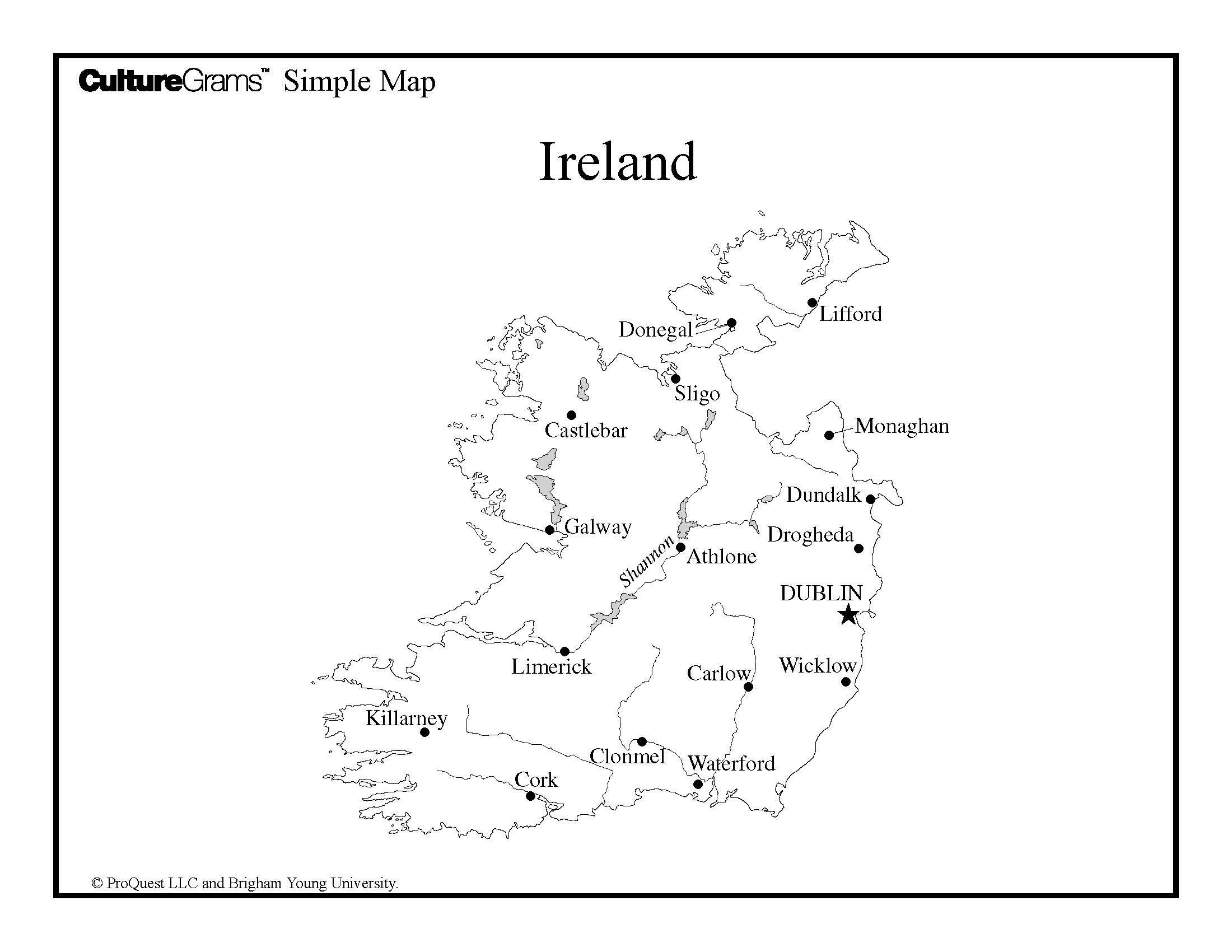 Simple Map Of Ireland.Study Abroad Ireland Study Abroad Mesa Community College