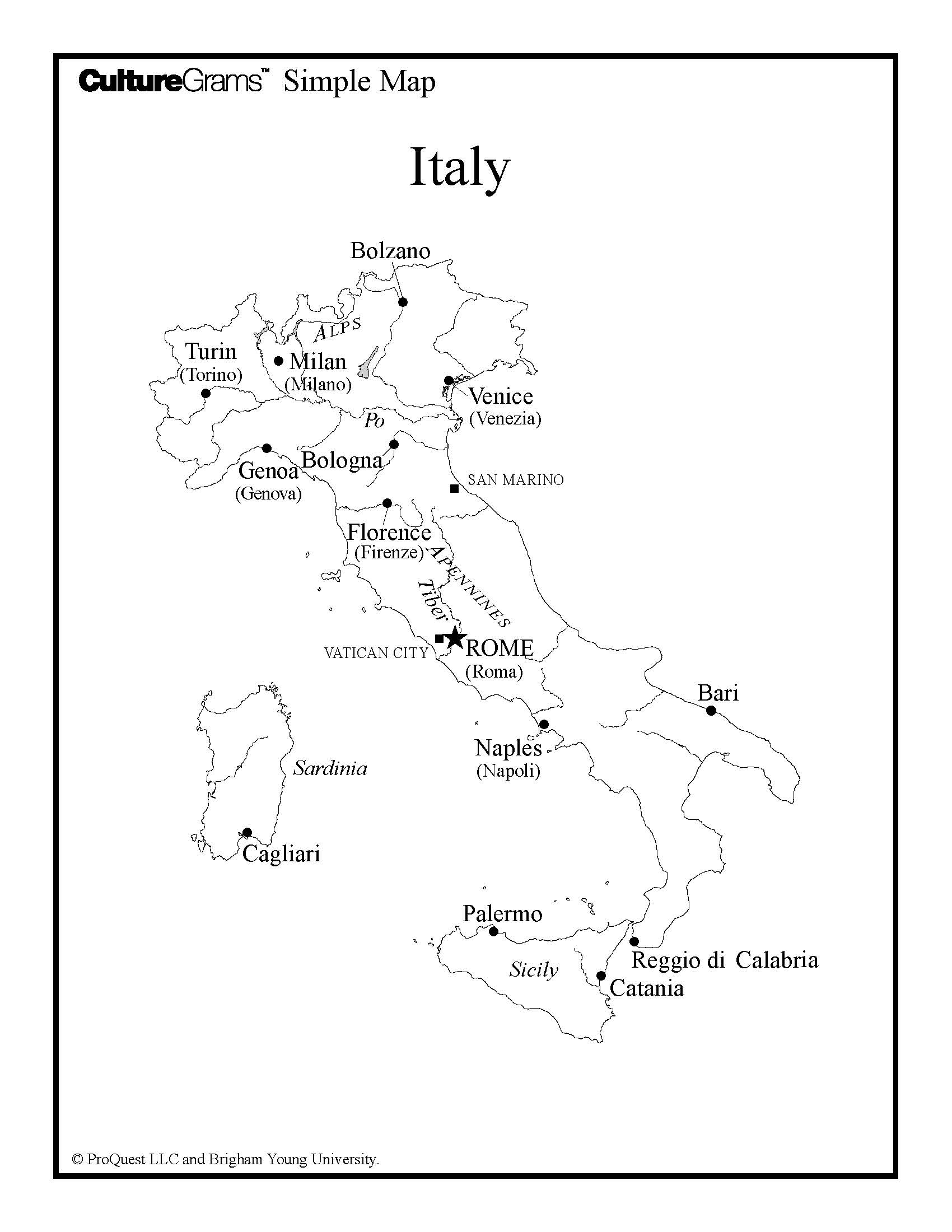 Italy florence rome venice study abroad mesa community college map of italy xflitez Gallery
