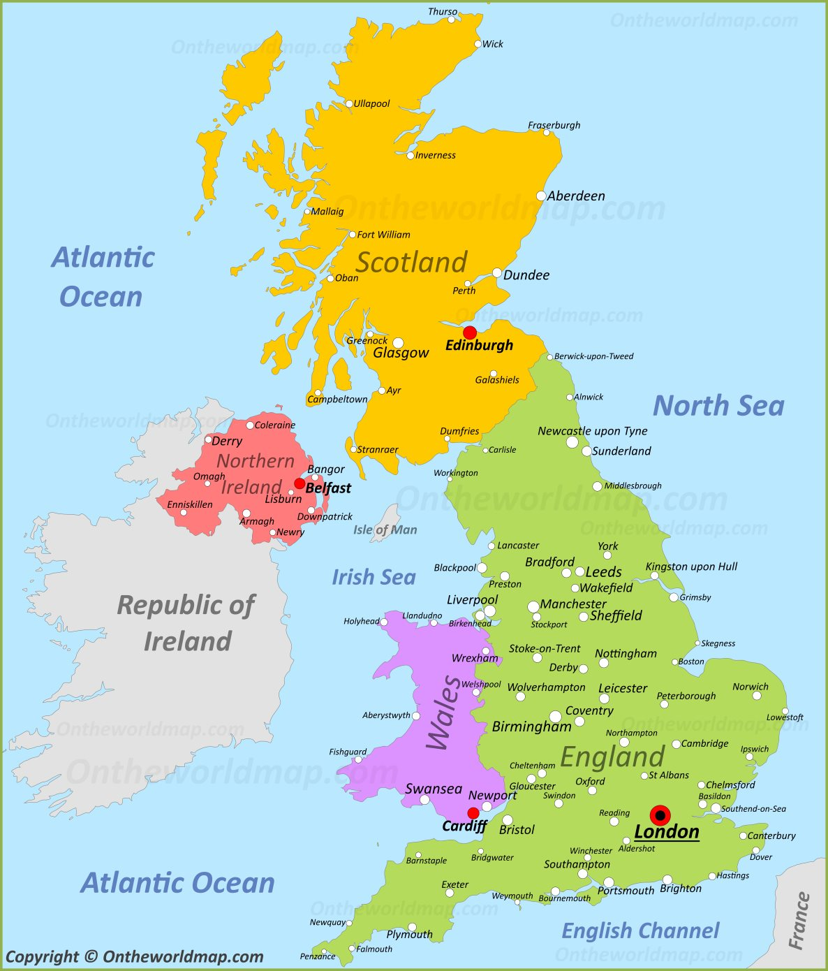 Www Map Of England.England Scotland France Study Abroad Mesa Community College