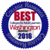 Best Colleges for Adult Learners Washingotn Monthly.