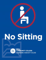Printable Letter Sized Sign - No Sitting (8.5x11)