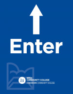Printable Letter Sized Sign - Enter with Up Arrow (8.5x11)