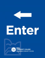 Printable Letter Sized Sign - Enter with Left Arrow (8.5x11)