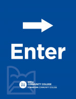 Printable Letter Sized Sign - Enter with Right Arrow (8.5x11)